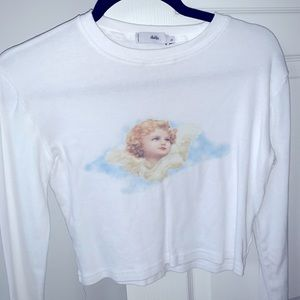 Angel Cropped White Cropped Top